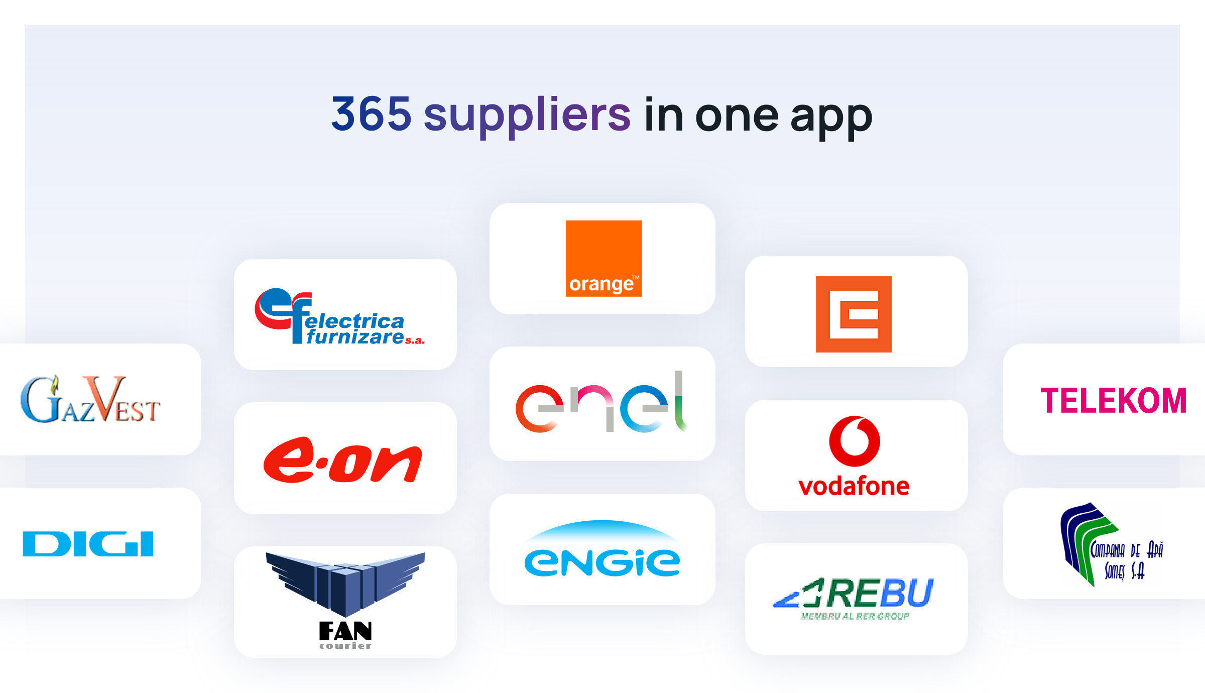 Everything about suppliers available in Pago. Over 365 are now one click away!